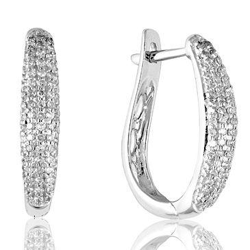 фото серьги с бриллиантами
