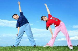 Ребенок спортом занимается